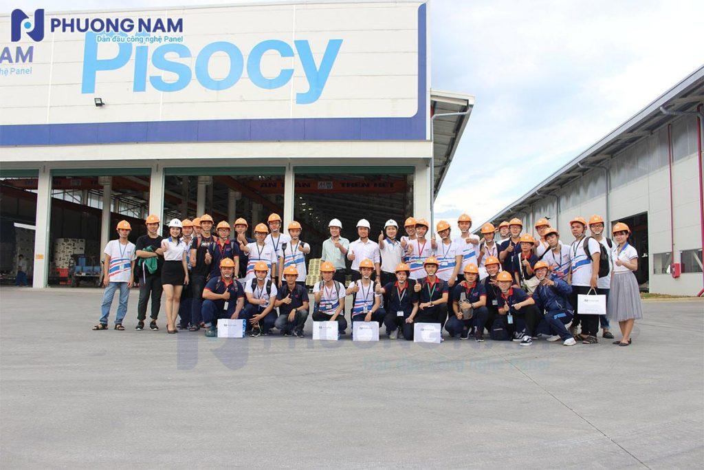 Đoàn tham quan nhà máy Panel Phương Nam - Sinh viên trường đại học Tôn Đức Thắng